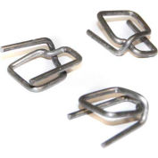 """Encore Packaging Regular Duty Cord Strapping Wire Buckles, 1/2"""" Strap Width, Silver, Pack of 1000"""