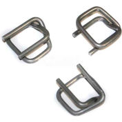 """Encore Packaging Heavy Duty Cord Strapping Wire Buckles, 5/8"""" Strap Width, Silver, Pack of 1000"""