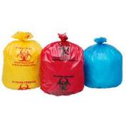 Isolement gros sacs, 33 x 40, rouge, Mil 1.20, paquet plat, 100/CS-ISR-33-H
