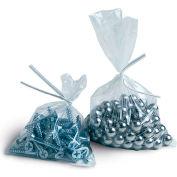 "Flat Poly Bags 4""W x 8""L 2 Mil Clear 2,000 Pack"