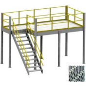 Equipto 10' x 10' x 8' Mezzanine With Perforated Steel Grating Deck