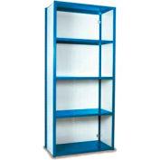 """Equipto Vg Closed Shelf Starter Unit - 48"""" W X 24"""" D X 84"""" H W/ 5 Shelves, Textured Regal Blue"""