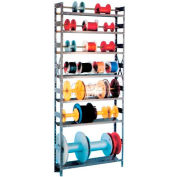 """Unité de Rack de bobine de fil Equipto 8"""" D x 36 «W x 84» H-w / 7 étagères, bleu"""