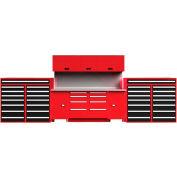 """EquiptoBay EBDWB120 Double Workbench System 240""""W x 30""""D x 81""""H - Bleu"""
