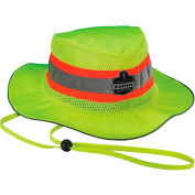 Ergodyne Chill-Its® Evap. Class Headwear Hi-Vis Ranger Hat w/ Built-In Cooling Towel, Lime, S/M