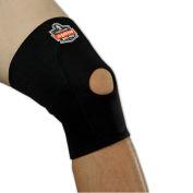 Ergodyne® 615 Knee Sleeve; Open Patella/Anterior Pad, Black, Medium