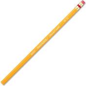 Crayon numéro2Paper Mate® Mirado Classic avec efface, jaune, douzaine