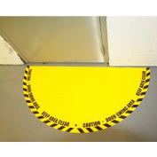 """DuraStripe® Full 180° Door Swing Sign, Black on Yellow, 21"""" x 42"""""""