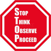 "Durastripe 12"" Octagone Sign - Stop Think Observe Proceed"