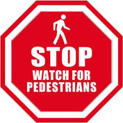 "Durastripe 12"" Octagone Sign - Stop Watch For Pedestrians"