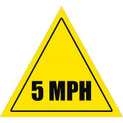"Durastripe 12"" Triangular Sign - Caution 5 Mph"