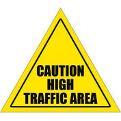 "Durastripe 12"" Triangular Sign - Caution High Traffic Area"