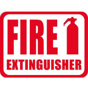 "Durastripe 12""X9"" Horizontal Rectangle - Fire Extinguisher"