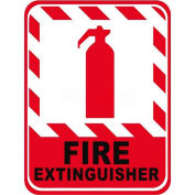 "Durastripe 12""X9"" Vertical Rectangle - Fire Extinguisher"