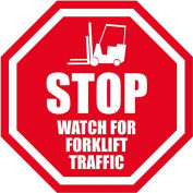 "Durastripe 24"" Octagone Sign - Stop Watch For Forklifts"