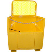 Saf-T-Lift 4' x 4' Steel Forklift Basket 1000lb. Capacity, Hi-Vis Safety Yellow - FB4X4