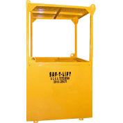 Saf-T-Lift 4' x 4' Steel Personnel Basket 1250lb. Capacity, Hi-Vis Safety Yellow - PB4X4