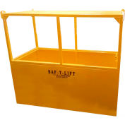 Saf-T-Lift 4' x 8' Steel Personnel Basket 1250lb. Capacity, Hi-Vis Safety Yellow - PB4X8