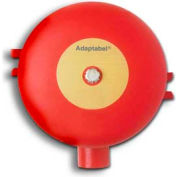 "Edwards Signaling, 439D-6AW-R, Vibrating Fire Alarm Bell 6"", 24 VDC, 0.85 AMPS, Red Diode"