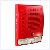 Edwards Signaling, G4HFRF-S2VMC, Wall Speaker, Strobe, 25 V, Red, Marked Fire