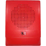 Edwards Signaling, G4HFRF-S7, Wall Speaker, 70 V, Red, Marked Fire