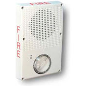 Edwards Signaling, WG4WF-SVMHC, Outdoor Speaker Strobe, White, Fire, Ho Cd