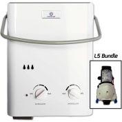 Eccotemp L5 Portable Tankless Water Heater & Flojet Pump - 11kW, 1.5 GPM