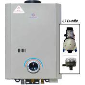 Eccotemp L7 Portable Tankless Water Heater W/ Flojet Pump & Strainer - 14kW, 1.7 GPM