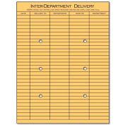 "Universal String & Button Interoffice Envelopes, 10""W x 13""H, Kraft, 100/Pack"