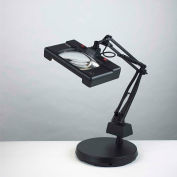 """Electrix 7452 3-Diopter Wide View Illuminated Magnifier W/Weighed Base, 30"""" Reach, 120V, 13x2W"""