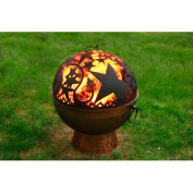 "Good Directions Fire Bowl with Orion Firedome™ FB-4, 26"" Diameter x  33-1/2""H"