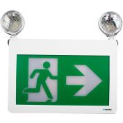 Combo LED Exit & Emergency Light, Battery Backup, 120/347 Volt