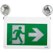 Combo LED Exit & Emergency Light, Battery Backup, 120/347 Volt