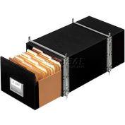 "Fellowes Staxonsteel® Legal Boxes, 24""L x 15""W x 10-1/2""H, Black - Pkg Qty 6"