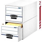 "Fellowes 00722 Stor/Drawer®, Legal Box, 25-1/2""L x 16-3/4""W x 11-1/2""H, White/Blue - Pkg Qty 6"
