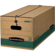 """Fellowes Recycled Stor/File™ Legal Storage Boxes, 24""""L x 15""""W x 10""""H, Kraft & Green - Pkg Qty 12"""