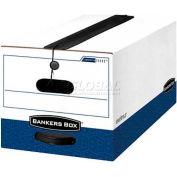 """Fellowes Liberty® Plus Legal Boxes, 24""""L x 15""""W x 10""""H, White & Blue - Pkg Qty 12"""