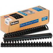 "Fellowes® Plastic Binding Combs, 1-1/2"", 340 Sheets, Black, 10/Pack - Pkg Qty 20"