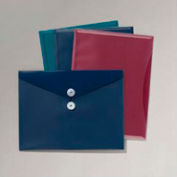 """Esselte ViewFront Poly Envelope w/ Pocket, 8-1/2""""W x 11""""H, Assorted, Pack of 4"""