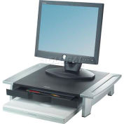 Fellowes® 8031101 Bureau Suites™ surveiller Riser, noir/argent, qté par paquet : 2