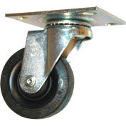 """Rubbermaid® 3 1/2"""" Swivel Plate Caster with Hardware"""