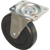 """Rubbermaid® 5"""" Swivel Plate Caster with Hardware Includes (1) Caster, (4) Washers and (4) Nuts"""