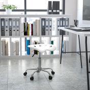 Flash meubles bureau tabouret - dos nu - plastique - blanc