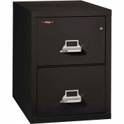"Fireking Fireproof 2 Drawer Vertical File Cabinet - Legal Size 21""W x 31-1/2""D x 28""H - Black"