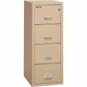 "Fireking Fireproof 4 Drawer Vertical File Cabinet - Legal Size 21""W x 25""D x 53""H - Putty"
