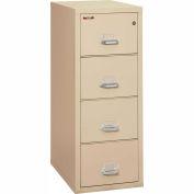 "Fireking Fireproof 4 Drawer Vertical File Cabinet - Legal Size 21""W x 31-1/2""D x 53""H - Putty"