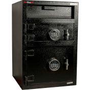 """FireKing Mail Box goutte sécuritaire MB3020-SR2 W 20"""" x 20 «D x 30» H électronique verrouiller 1,35 pi³ noir"""
