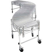 "NestaFlex® RLS18008S003 Flexible Roller Conveyor - Steel Rollers 200 Lb./ft. 2'5""L to 8'11""L"