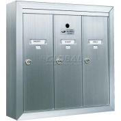 Surface Mount Vertical 1250 Series, 3 Door Mailbox, Anodized Aluminum