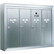Surface Mount Vertical 1250 Series, 4 Door Mailbox, Anodized Aluminum